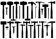 Reeks Verschillende Hamers vector illustratie