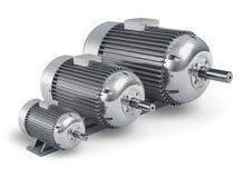 Reeks verschillende industriële elektrische motoren stock foto's