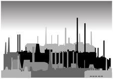 Reeks verschillende industriële gebouwen in vector Stock Foto