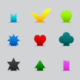 Reeks verschillende kleurenlusjes Stock Afbeeldingen