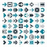 Reeks verschillende pijlen en curseurs Vector Stock Afbeelding