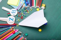 reeks verschillende schoolpunten, vectorillustratie Stock Fotografie