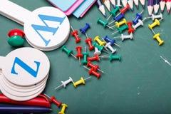 reeks verschillende schoolpunten, vectorillustratie Stock Foto's