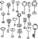 Reeks verschillende sleutels royalty-vrije illustratie
