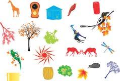 Reeks verschillende slimme pictogrammen Royalty-vrije Stock Afbeelding
