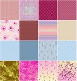 Reeks verschillende texturen Stock Afbeeldingen