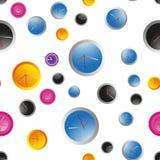 Reeks verschillende types van klok Stock Fotografie