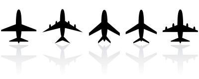 Reeks verschillende vliegtuigen. Royalty-vrije Stock Foto's