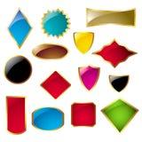 Reeks verschillende vormetiketten Royalty-vrije Stock Afbeelding