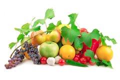 Reeks verschillende vruchten en groenten Royalty-vrije Stock Afbeelding