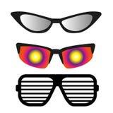 Reeks verschillende zonnebril Stock Afbeeldingen