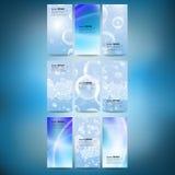 Reeks verticale banners Dalingen in het blauwe water Royalty-vrije Stock Foto