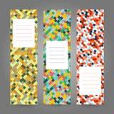 Reeks Verticale Kleurrijke Banners Abstract geometrisch ornament V Royalty-vrije Stock Afbeelding