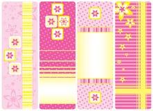 Reeks verticale markeringen Royalty-vrije Stock Afbeeldingen