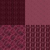 Reeks of vier naadloze patronen Royalty-vrije Stock Afbeelding