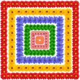 Reeks vierkante bloemenelementen Royalty-vrije Stock Afbeeldingen