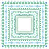 Reeks vierkante de winterkaders Royalty-vrije Stock Fotografie