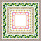 Reeks vierkante kleuren geometrische grenzen Stock Afbeeldingen