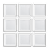 Reeks vierkante omlijstingen Royalty-vrije Stock Foto's