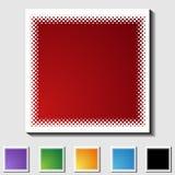 Reeks Vierkante Pictogrammen - Halftint - Spatie royalty-vrije illustratie