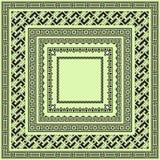 Reeks vierkante zwarte geometrische grenzen Stock Fotografie