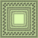Reeks vierkante zwarte geometrische grenzen Stock Foto's