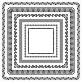 Reeks vierkante zwarte kaders Royalty-vrije Stock Afbeeldingen
