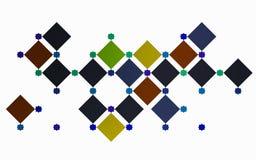 Reeks vierkanten in een moderne samenstelling Stock Fotografie