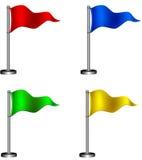Reeks vlaggen. Stock Foto's