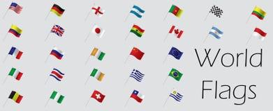 Reeks vlaggen Stock Afbeeldingen