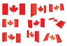 Reeks vlaggen van Canada Stock Foto