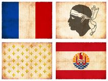 Reeks vlaggen van Frankrijk #1 Stock Afbeelding