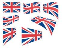 Reeks vlaggen van het Verenigd Koninkrijk Stock Fotografie