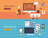 Reeks vlakke concepten van de ontwerp vectorillustratie van Stock Foto's