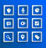 Reeks vlakke document pictogrammen Stock Foto