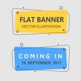 Reeks vlakke geometrische banners Stock Afbeeldingen