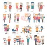 Reeks vlakke mensen vector illustratie