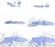 Reeks vlekken op witte achtergrond Stock Afbeelding
