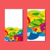 Reeks vliegers met abstracte achtergrond Vector illustratie Royalty-vrije Stock Foto's