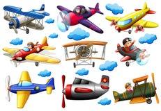 Reeks vliegtuigen vector illustratie