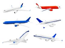Reeks vliegtuigen royalty-vrije stock foto