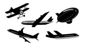 Reeks vliegtuigen royalty-vrije illustratie
