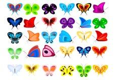 Reeks vlinders vector illustratie