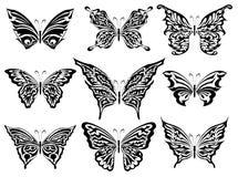 Reeks vlinders Stock Afbeelding