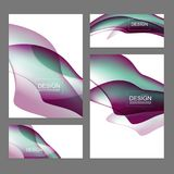 Reeks vloeibare kleurendekking Stock Afbeeldingen