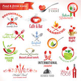 Reeks voedsel en drankpictogrammen Royalty-vrije Stock Afbeeldingen