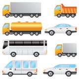 Reeks voertuigen. Royalty-vrije Stock Afbeeldingen