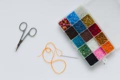 Reeks voor borduurwerk met parels stock afbeelding