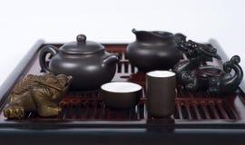 Reeks voor Chinese theeceremonie Stock Foto's