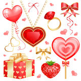 Reeks voor de dag van de Valentijnskaart Stock Afbeelding